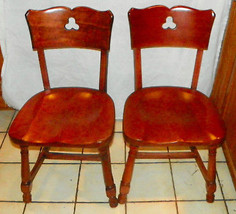 Pair of Cherry Dinette Chairs / Sidechairs - $499.00