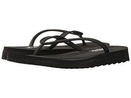NWT Skechers Go Flex Refreshing Womens Flip Flops Sandals Black SZ 7 - $32.99