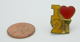 Late 1970's Early 1980's I Love 2 Screw Red Yellow Enamel Hat Lapel Pin C - $7.92