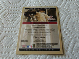 2005   ROGER  CLEMENS  GAME  USED  JERSEY  NATIONAL  PASTIME  FLEER  GOG-RC  !!  image 2