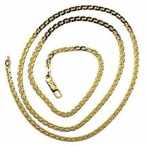 """SOLID 18K GOLD GOURMETTE CUBAN CURB 18K YELLOW GOLD CHAIN OVAL WAVE 2.8mm, 20"""" image 4"""