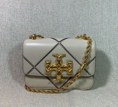 NWT Tory Burch New Cream Small Diamond Quilted Eleanor Shoulder Bag - $696.45