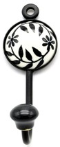 Bohemian Hooks Vintage Ceramic Entrywall/Coat/Door Shabby Chic India 1.5x1.5 - $12.01