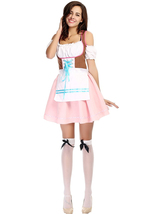 Halloween German Pink Bavarian Oktoberfest Costume Dress - $26.80