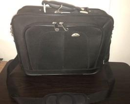 NWOT Samsonite Business 4 Zipper Sections Laptop Briefcase Black Long Strap - $56.09