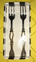 Old Hollywood By David Tutera Gold Tone Appetizer Collection 2 Pc Fork Set - $415,01 MXN