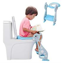 Toddler Potty Ladder Seat Toilet Step Stool for Kids Potty Training, Foldable Ad image 3