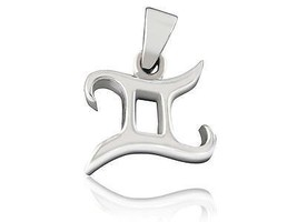 925 Sterling Silver Zodiac Star Sign Gemini Astrology Horoscope Charm Pe... - $17.59