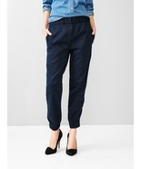 New NWT $70 Gap Tencel Jogger Pants 00 Regular Dark Blue Silky Womens Na... - $28.00
