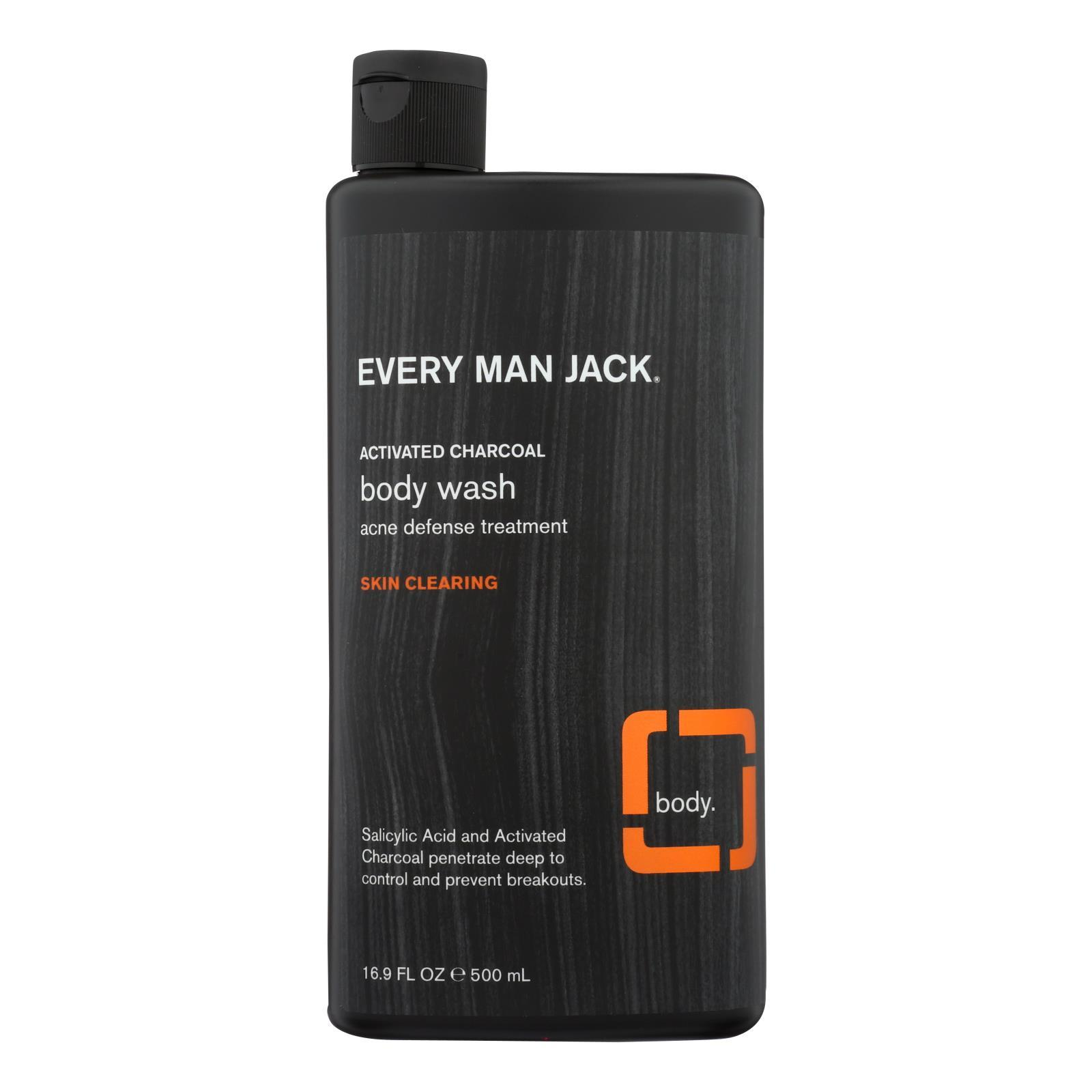 Primary image for Every Man Jack Body Wash Activated Charcoal Body Wash | Skin Clearing - Case of
