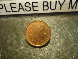 1999 CANADIAN CENT COIN    ****     >> COMBINED SHIPPING  - $1.73