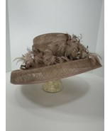 Made England 100% Sinamay Straw Top Hat Wedding Races Feathers Fancy Lon... - $17.33