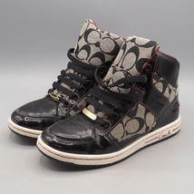 Coach Womens Norra Signature Black & Red High Top Shoes Sneakers Size 5.5 M - $24.74