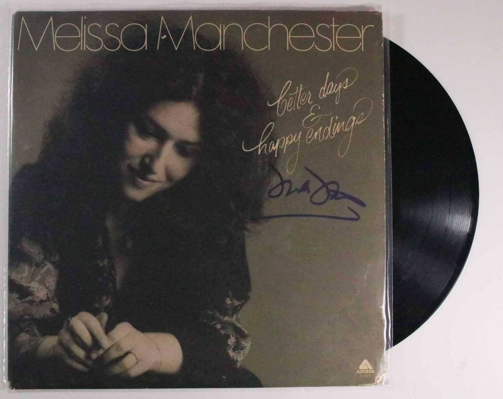 "Primary image for Melissa Manchester Signed Autographed ""Better Days & Happy Endings"" Record Album"