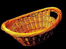 Handmade Woven Wicker Basket with Double Handles AA-191710  Vintage Collectible image 4