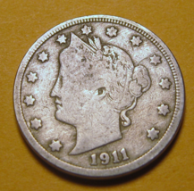ONE HUNDRED SEVEN YEARS OLD...A V NICKEL...SURVIVING THE AGES...NO BOTOX... - $12.99