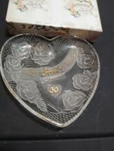 Love Honor Cherish By Enesco 5 In Heart Shaped 30th Anniversary Plate  - $7.92
