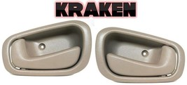 Kraken Inside Door Handles For Toyota Corolla 1998-2002 Tan Left/Right Pair - $13.85