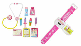 Hello Kitty 2 Set Bundle - Doctor Set and Watch with Flip Cover - $18.80