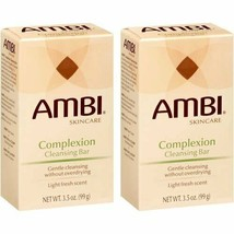 2 PACK- AMBI SKIN CARE COMPLEXION CLEANSING BAR SOAP 3.5 oz LIGHT FRESH ... - $8.41