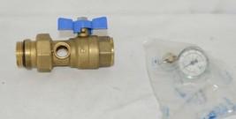 Bainchi F lli 422MC0060E MF Brass Ball Valve PN25 Pipe Union Oring Thermometer image 1