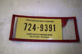 Vintage Lot of 8 two legged deer permits Captain's Corner Harrisville Mi... - $8.79
