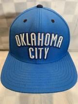 Oklahoma City Adidas Basketball Nba Thunder Snapback Adult Cap Hat - $17.81