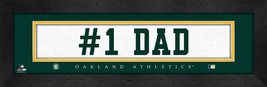 """Oakland A's """"#1 Dad"""" 8x24 Slogan Stitched Jersey Framed Print - $39.95"""
