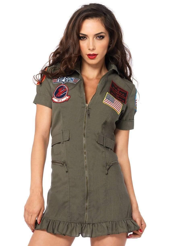 Leg Avenue Top Gun Flight Dress Khaki Large - $55.99