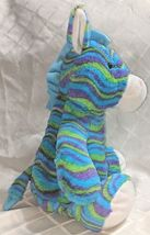 Fiesta A49886 Mod Squad 18 inch Multi Colored Waves Cuddle Giraffe image 4