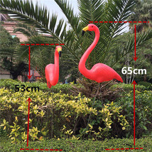 1 Pair Flamingo Garden Yard Decor Plastic - $27.16+