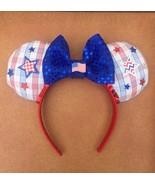 Handmade Disney Red, White, And Blue 4th Of July American Flag Minnie Mo... - $13.86