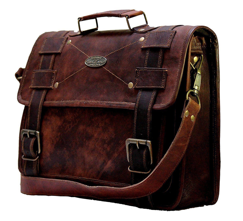 Men's Leather Business Briefcase Bag Handbag Messenger Shoulder Bags Briefcase