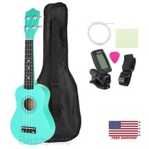 "21"" Inch Basswood Soprano Ukulele with Gig Bag Tuner Mint Green Matte Be... - $43.00"