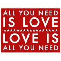 (#4884)  Rustic Wooden Sign 'All You Need Is Love,,,'  Approximately   9... - $20.00
