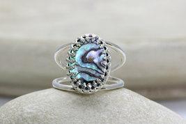 Abalone shell earrings,oval earrings,silver earrings,dangle earrings - $59.00+