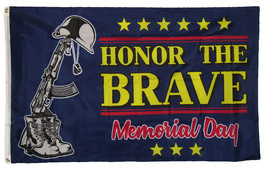 3x5 Honor The Brave Support Troops Memorial Day Holiday Flag 3'x5' Grommets - £9.26 GBP