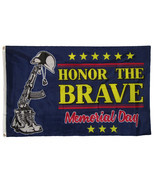 3x5 Honor The Brave Support Troops Memorial Day Holiday Flag 3'x5' Grommets - £9.14 GBP