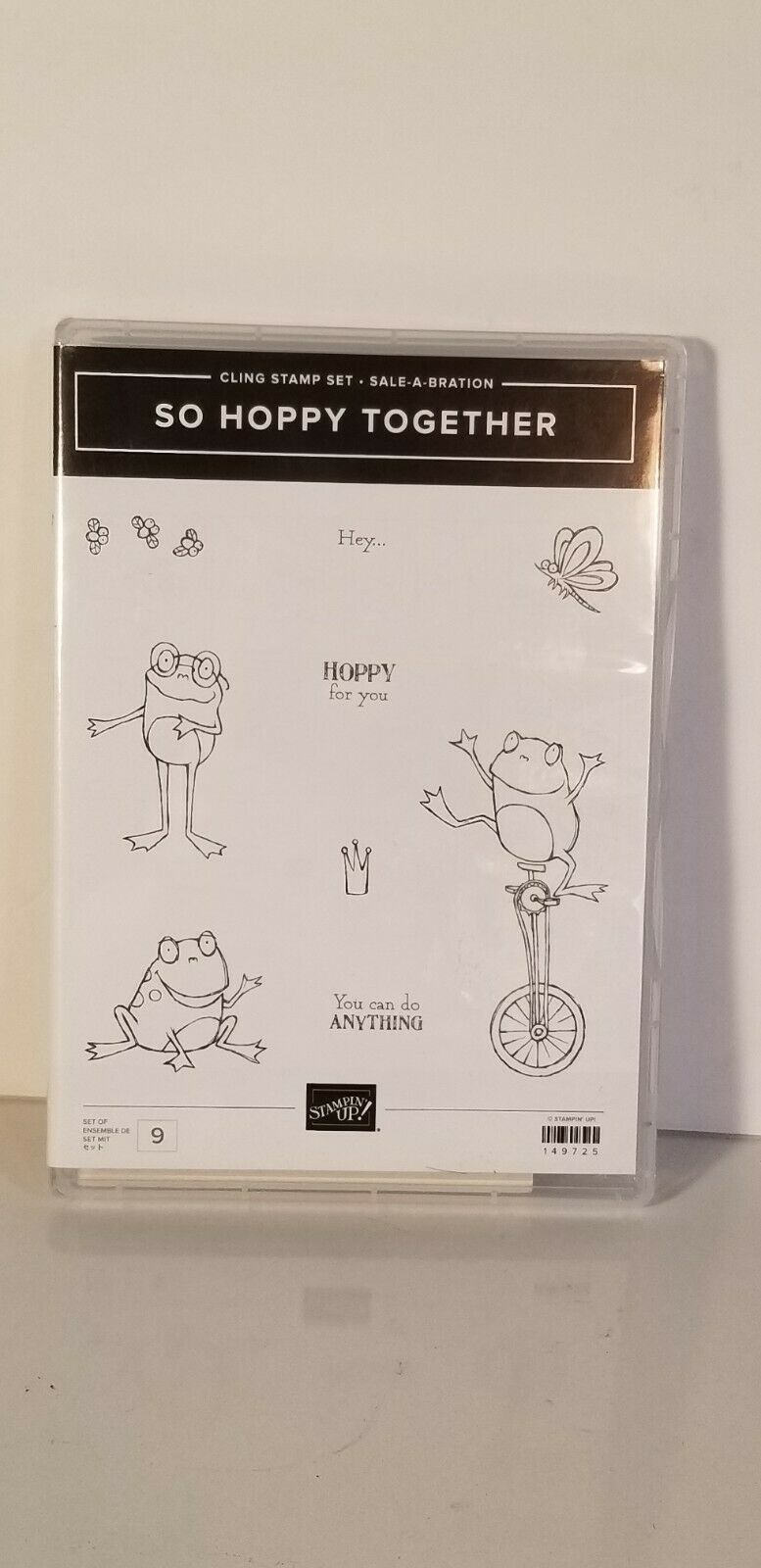 Primary image for STAMPIN' UP SO HOPPY TOGETHER Cling STAMP SET - Sale-A-Bration