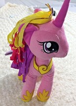 My Little Pony With Purple Wings 2013 Hasbro Pink Plush with Heart Unico... - $11.07