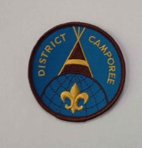 Boy Scouts District Camporee Tepee Patch Round Blue/Brown/Yellow Cloth B... - $3.84