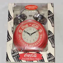 Coca Cola Quartz Alarm Clock Red Old Fashioned Style Twin Bell Top - NEW... - $11.16