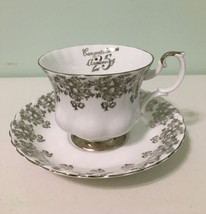 Royal Albert Congratulation 25th. Anniversary Tea Cup & Saucer - $9.90