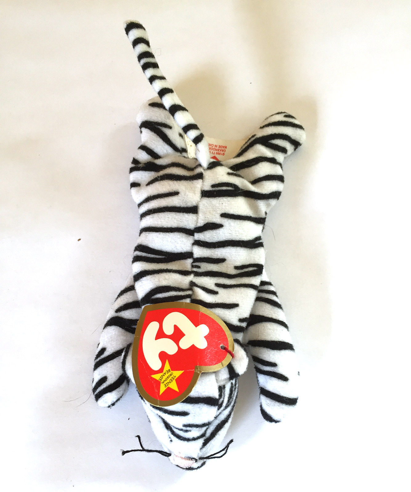"Primary image for Ty Beanie Babies Blizz White Tiger 6 1/2"" Plush"