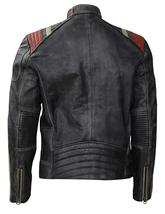 Cafe Racer Vintage Motorcycle Distressed Black Retro Slimfit Leather Jacket image 4