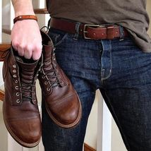 Oxford Coffee Brown High Ankle Lace Up Genuine Leather Party Wear Cap To... - $149.90+