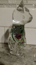 """Lenox Glass Cats Figurines from Estate 6"""" & 3.5"""" Hand Painted image 4"""