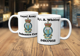 Royal Army Ordnance Corps Personalised Coffee/Tea Mug - $11.25