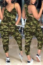 Casual Camouflage Printed Jumpsuit - $26.30