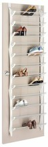 Folding Bar Over Door Shoe Sandal Flip Flop Shelf Rack Storage Organizer... - $41.99